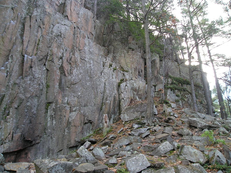 "Rock Climbing Photo: End of main wall looking up the cliff line, ""..."