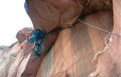 Rock Climbing Photo: Jay Miller hanging it out on the 3rd pitch roof.