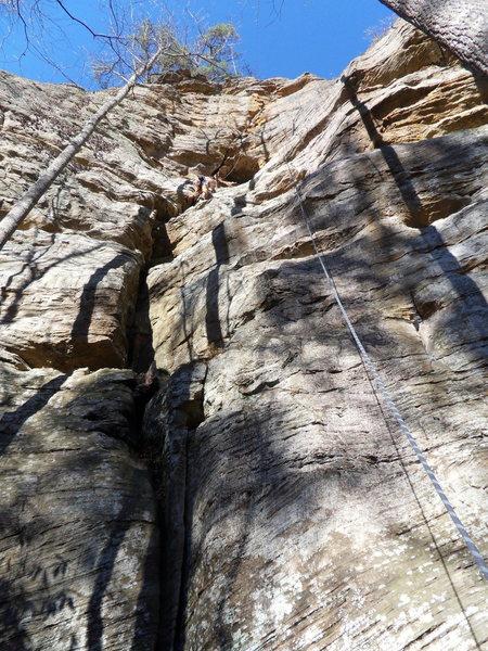 Rock Climbing Photo: Luke Cushman climbing Shock and Awe.