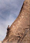 Rock Climbing Photo: The FA of Blazing Saddles (5.10a)