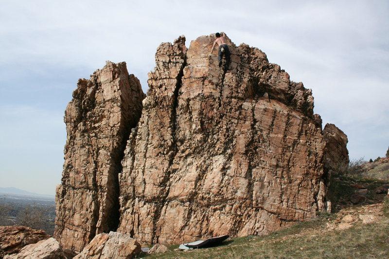 Rock Climbing Photo: trespassers rock wasatch front utah