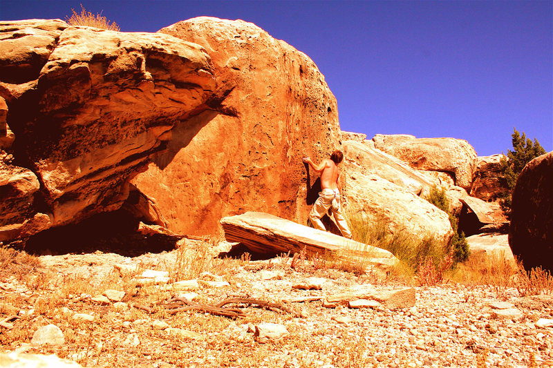 Rock Climbing Photo: golden V1 triassic utah