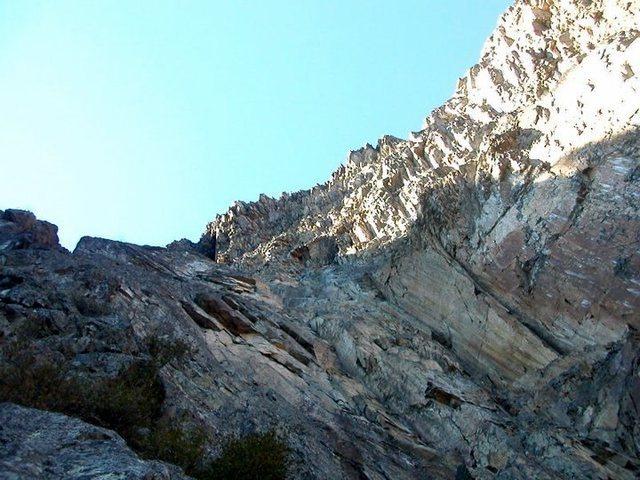 A shot of the overhangs