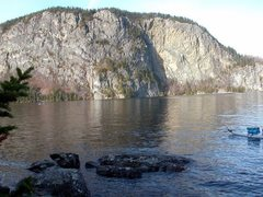 Rock Climbing Photo: The main face, coming out of Moosehead Lake