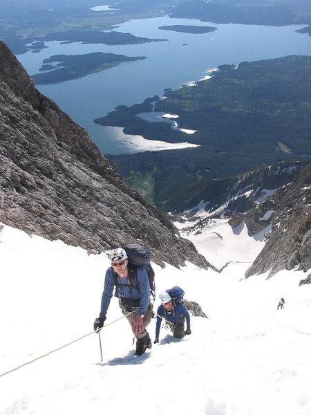 Rock Climbing Photo: climbing the glacier