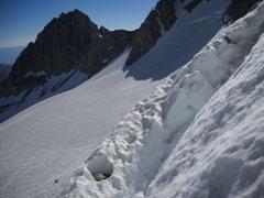Rock Climbing Photo: the bergschrund