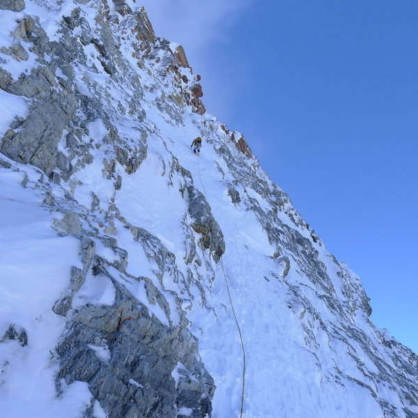 Rock Climbing Photo: Assiniboine North Ridge