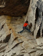 Rock Climbing Photo: Divesh Bhatt in the dihedral section of Titan's Di...