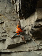 Rock Climbing Photo: Weston Markham entering the dihedral section of Ti...
