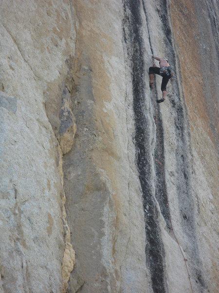 Rock Climbing Photo: Darek on P2.