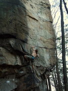 Rock Climbing Photo: Weston Markham on the opening moves of Slash and B...