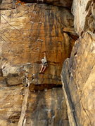 Rock Climbing Photo: Weston Markham on Quinsana Plus, 5.13a.