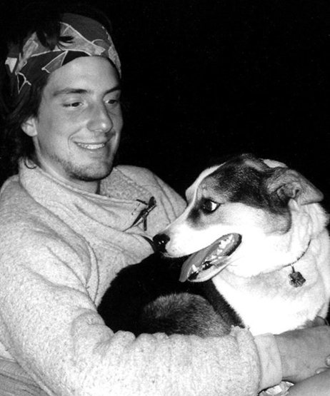 Dean and the famous dog Fletcher.<br> Photo by Blitzo.