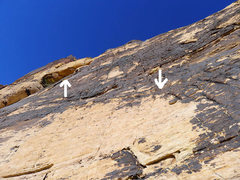 Rock Climbing Photo: P1 from the base.  Look for the roof (high and lef...
