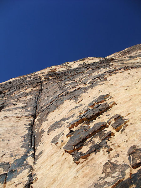 Rock Climbing Photo: close-up of the crack on P1
