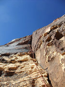 Rock Climbing Photo: Jascha at the roof on P3