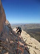 Rock Climbing Photo: Jascha on the P4 traverse