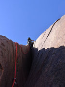 Rock Climbing Photo: and on the offwidth section of P6