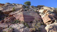 Rock Climbing Photo: easy ramp system leading to the Juniper Peak summi...