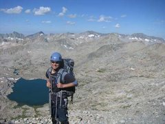 Rock Climbing Photo: Heading up SouthWest U-Notch to summit of North Pa...