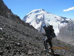 Rock Climbing Photo: Heading up the North Rib of Parinacota with Pomera...
