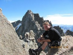 Rock Climbing Photo: Sitting just under the summit block of Thunderbolt...