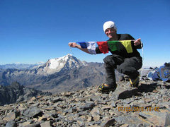 Rock Climbing Photo: On the summit of Pequeno Alpamayo after what a loc...