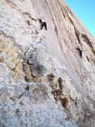 Rock Climbing Photo: Diesel on Middle Age Crazy and myself on Such a Sa...