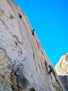 Rock Climbing Photo: Diesel still on MIddle age Crazy and Loring leadin...