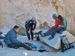 Rock Climbing Photo: Two shots of expresso with a spoonful of honey.  E...