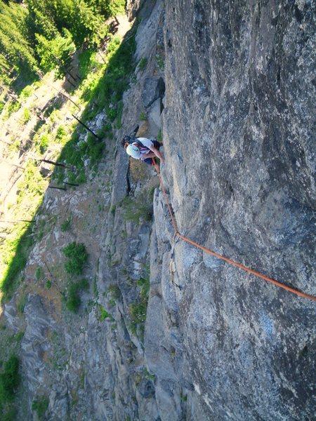 Rock Climbing Photo: Mark W climbing into Outer Space