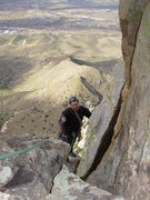 Rock Climbing Photo: H after the second pitch of the Left Variation of ...