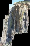 Rock Climbing Photo: A composite image of the west face. Crescent is th...