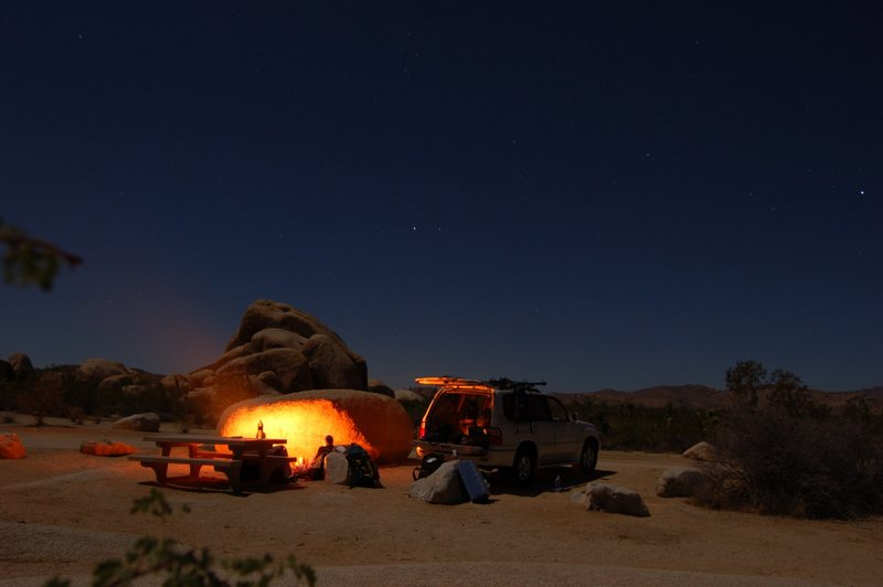 Rock Climbing Photo: whitetank campground jt ca