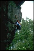 Rock Climbing Photo: The crux reach on Digitalis