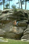 Rock Climbing Photo: Big holds but bigger moves on Icarus.
