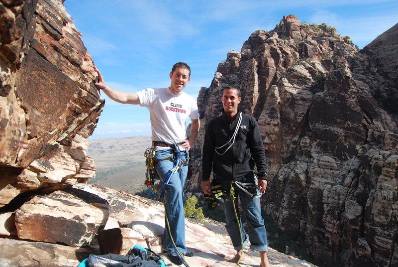 Rock Climbing Photo: me and brett