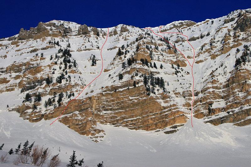 Rock Climbing Photo: timp routes