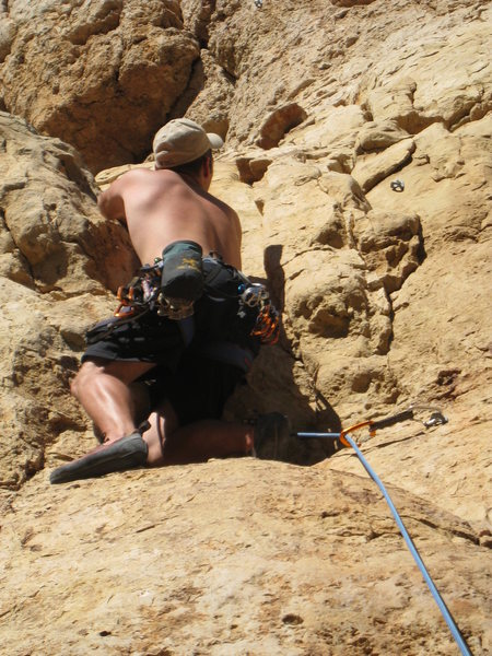 Rock Climbing Photo: First time at Shelf Road