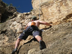 Rock Climbing Photo: Hansy's first outdoor experience