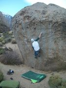 Rock Climbing Photo: The first hard move off the ground gets you to thi...