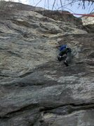 Rock Climbing Photo: Climbing on the cool quartz knobs down low.