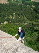 Rock Climbing Photo: First climb on cathedral ledge
