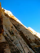 Rock Climbing Photo: From Lotta balls wall.  Route goes up the left lea...