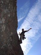 Rock Climbing Photo: Start of Pitch 3.