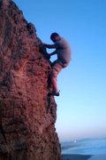 Rock Climbing Photo: bouldering at ocean beach