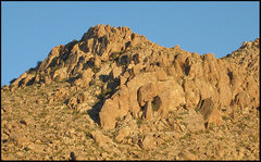 Rock Climbing Photo: Stealth Pillar area from Rattlesnake Canyon. Photo...