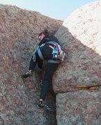 Rock Climbing Photo: Rachel on the last pitch.