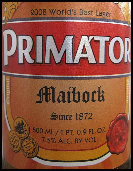 Primator Maibock.<br> Photo by Blitzo.