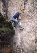 Rock Climbing Photo: Rick bouldering at Tuolumne Meadows. Photo by Blit...